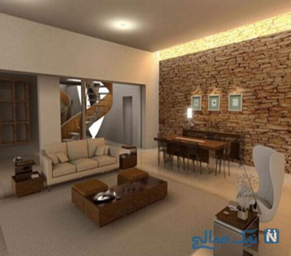 دیوارهای سنگی در طراحی داخلی