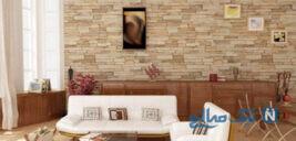ایده هایی برای دیوارهای سنگی در اتاق پذیرایی