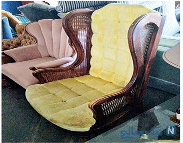 بازسازی صندلی قدیمی و بازسازی وسایل قدیمی منزل