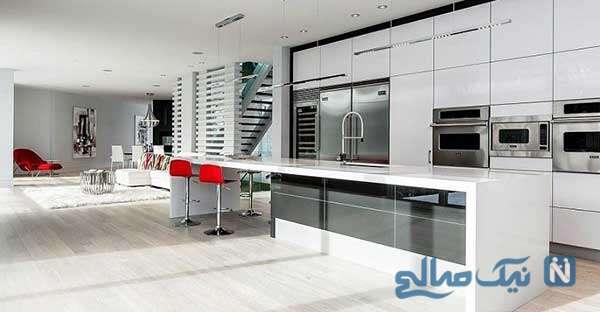 دکوراسیون آشپزخانه مینیمال جدید و مدرن