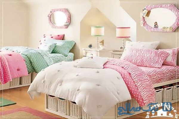 دکوراسیون اتاق خواب دختران نوجوان زیبا و شیک
