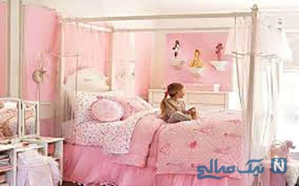 دکوراسیون اتاق دخترانه صورتی زیبا و رمانتیک