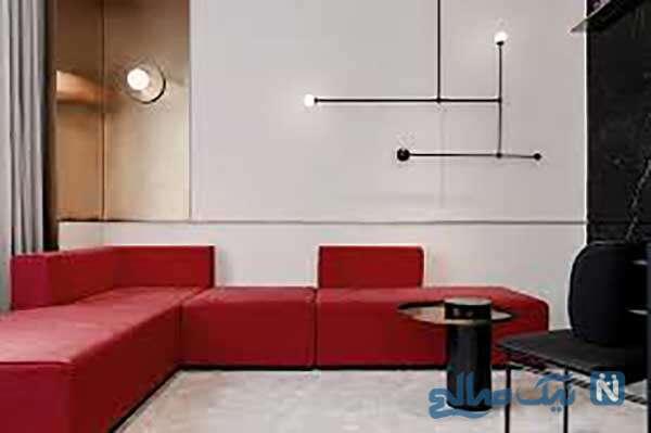 دکوراسیون اتاق پذیرایی به رنگ قرمز