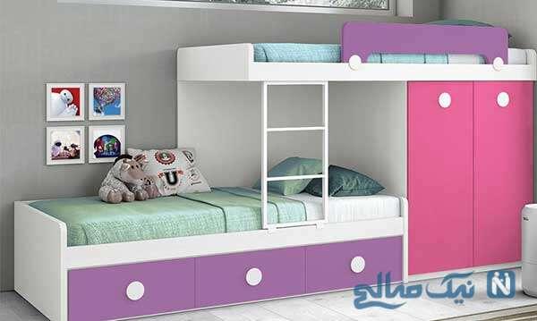 زیباترین دکوراسیون تخت خواب کودکان