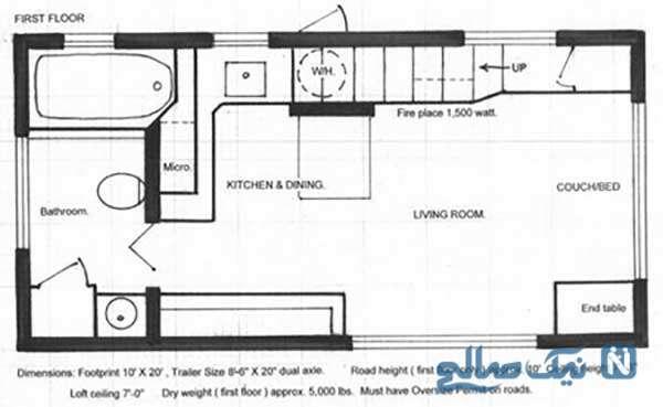 طراحی بی نظیر یک خانه ۵۰ متری