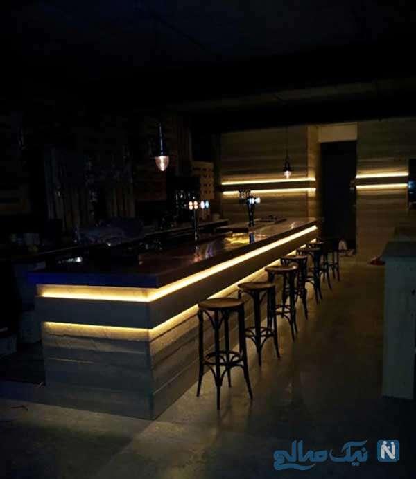 کانتر آشپزخانه پذیرای نورهای مخفی