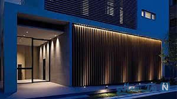 فضای داخلی ساختمان با نورهای مخفی خیره کننده