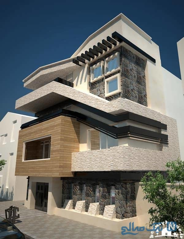 نمای آپارتمان ایرانی سه تا شش طبقه + تصاویر