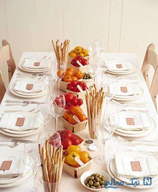 تزئینات ساده و کلاسیک میز غذاخوری