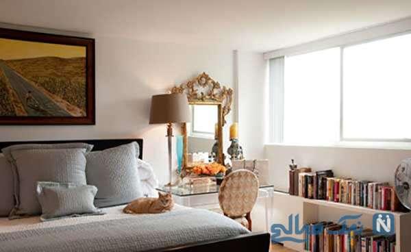 استفاده از میز آرایش و آینه در اتاق خواب