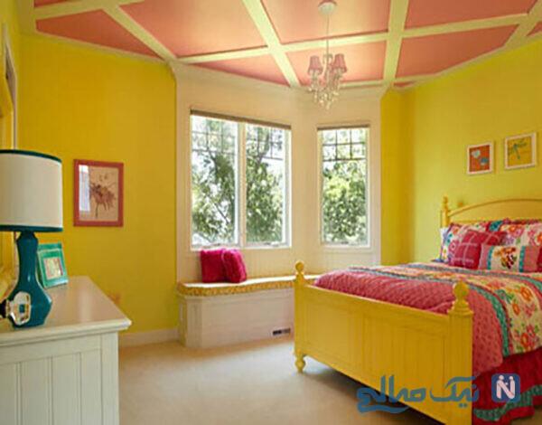 تخت خواب های رنگی زرد