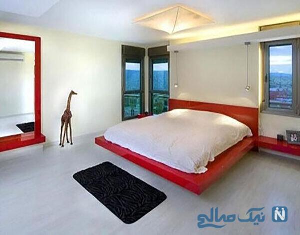 رنگ قرمز تخت خواب