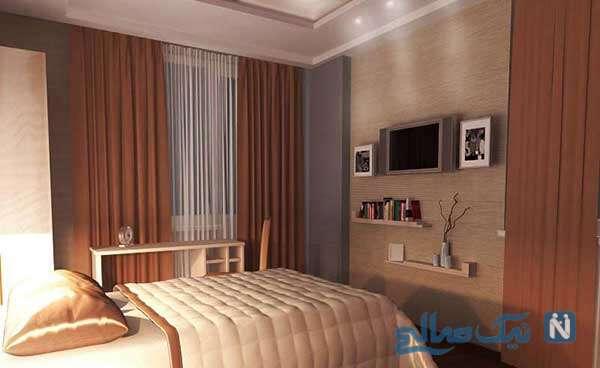اتاق خواب کوچک مدرن