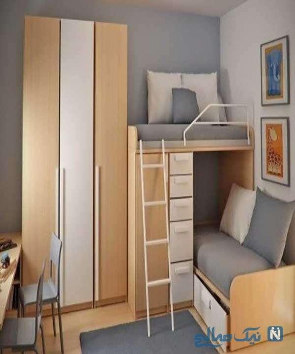 فضا سازی حرفه ای در اتاق خواب کوچک