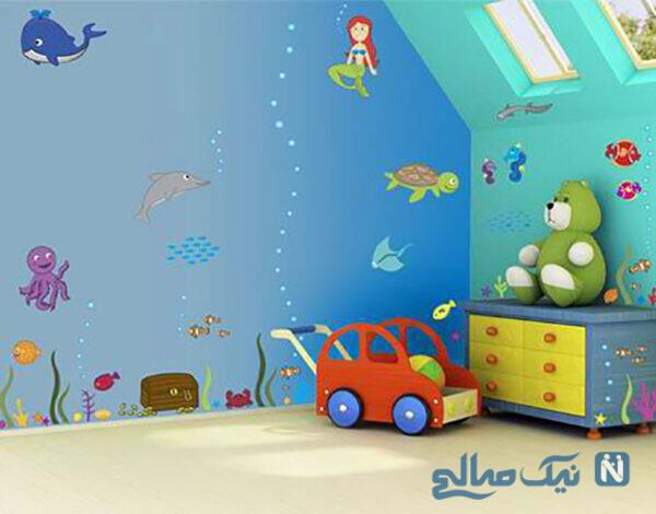 بهترین مدل کاغذ دیواری اتاق کودک