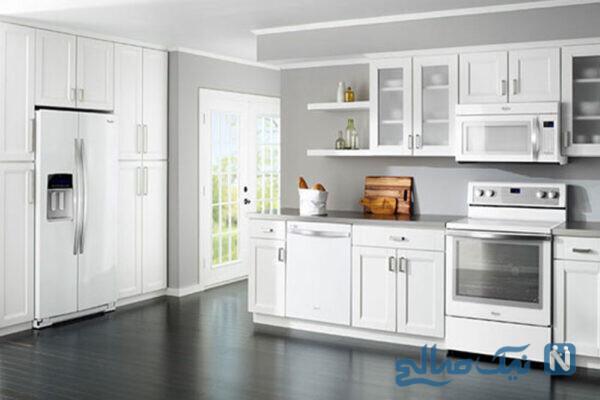 رنگ سفید برای آشپزخانه