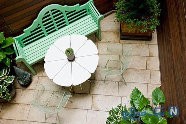 دکوراسیون بسیار شیک برای حیاط خلوت و پاسیو کوچک