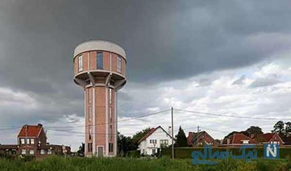 برج آب قدیمی که به یک خانه زیبا تبدیل شده است