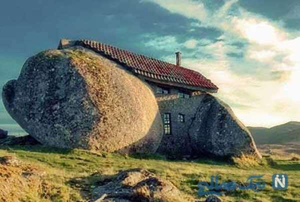 خانه سنگی و دکوراسیون خانه های عجیب