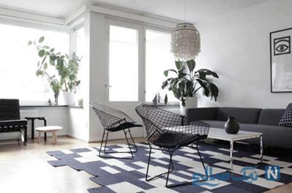 نحوه طراحی دکوراسیون سیاه و سفید برای خانه های شیک