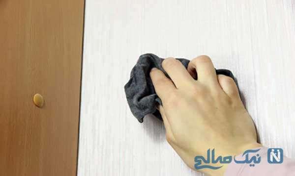 تمیز کردن کاغذ دیواری برای عید