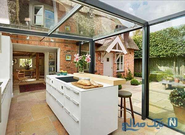 آشپزخانه بر روی بام