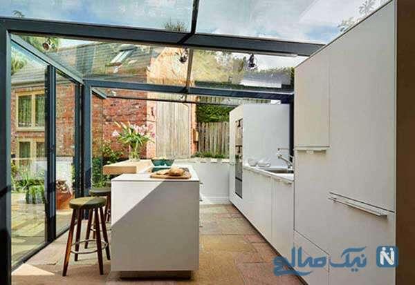 طراحی آشپزخانه شیشه ای