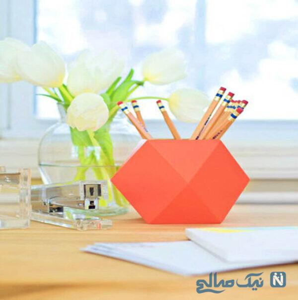 جاقلمی که روی میز کارتان قرار می دهید را با رنگ های تند بهاری رنگ آمیزی کنید