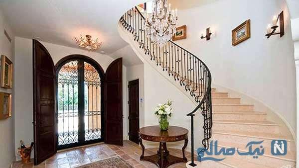 طراحی فضای ورودی خانه به سبکی منحصر بفرد و باشکوه