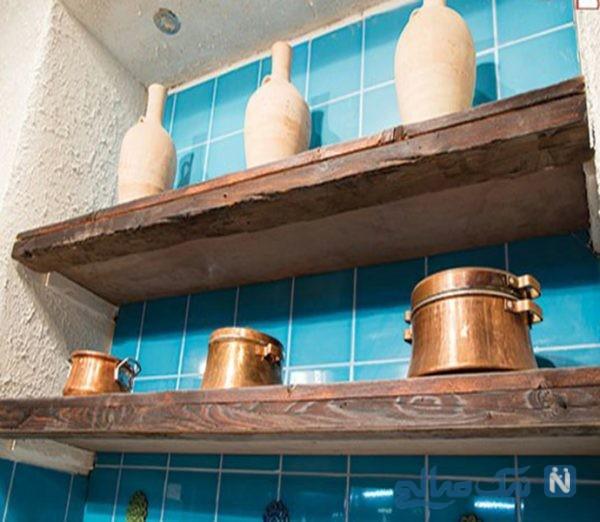 دکوراسیون سنتی فوق العاده زیبا در آشپزخانه سامان گلریز+تصاویر