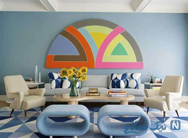 دکوراسیون آبی و صورتی منزل