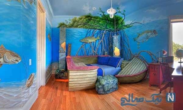 طراحی شگفت انگیز اتاق بازی کودک