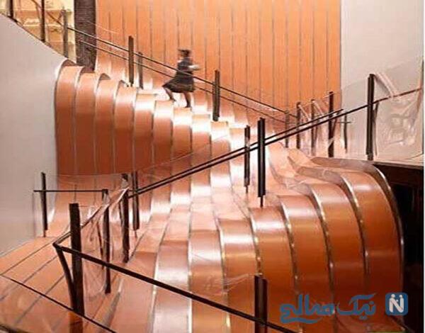 راه پله های پیوسته با الهام از آلت موسیقی