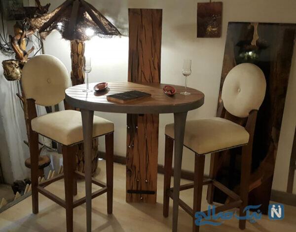 میز های پایه بلند