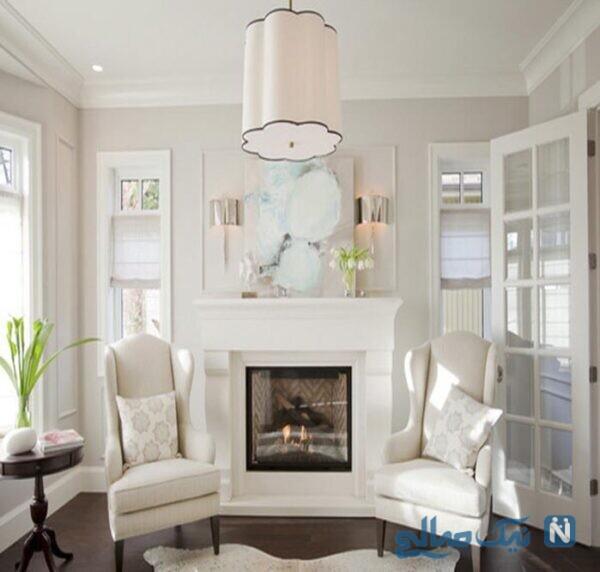 رنگ سفید در دکوراسیون منزل رنگ سفید صدفی