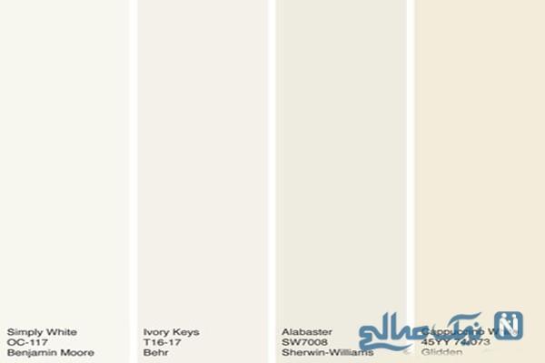 انواع رنگ سفید در دکوراسیون منزل را بشناسید!