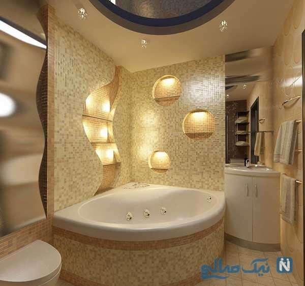 نورپردازی مدرن حمام