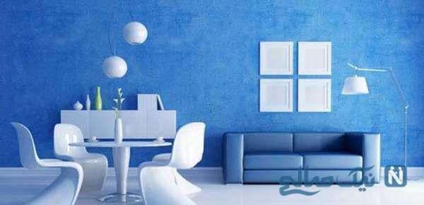 زیبایی چشم گیر با رنگ آبی در دکوراسیون داخلی / فواید رنگ آبی