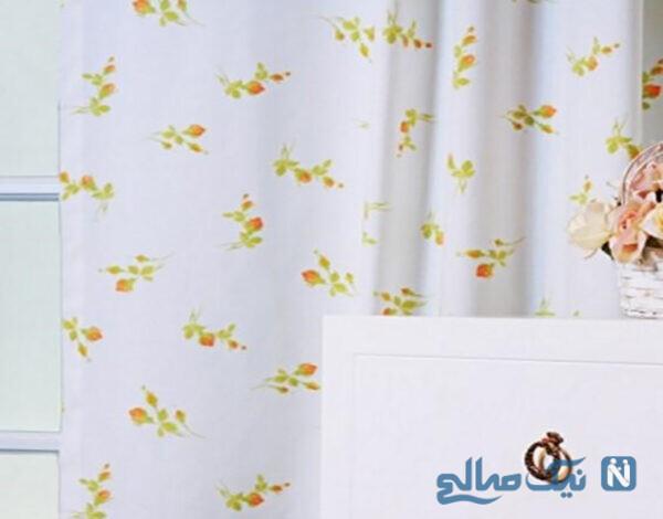 مدل پرده گلدار اتاق پذیرایی