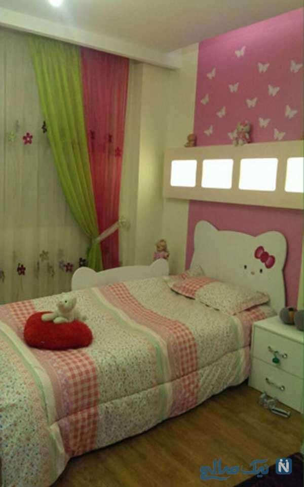 استفاده از رنگ صورتی در اتاق دخترانه