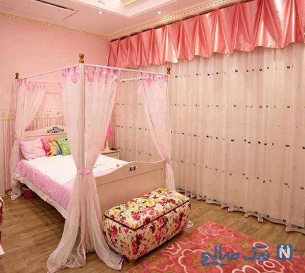 دکوراسیون پرنسسی برای اتاق دخترانه