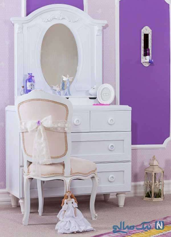 انتخاب رنگ سفید برای اتاق دخترانه