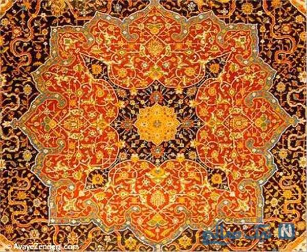 فرش دستباف ابریشمی