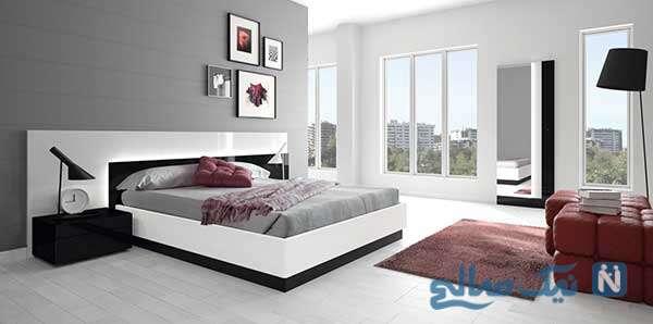 دکوراسیون اتاق خواب به رنگ سفید