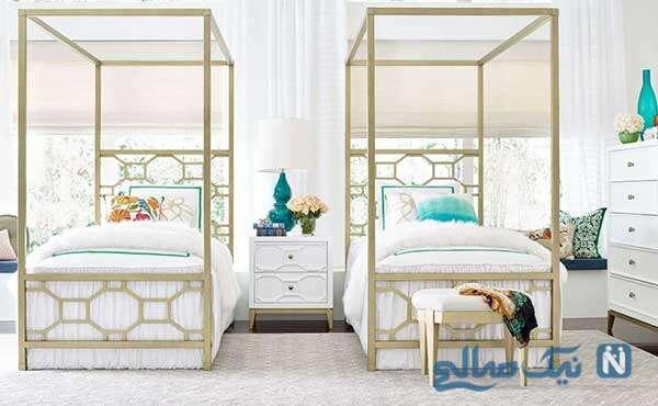 اتاق خواب مدرن به رنگ سفید