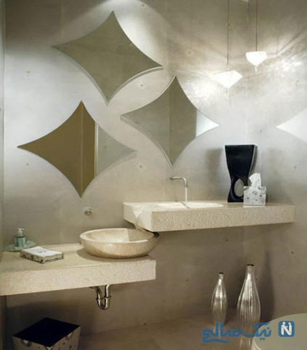طراحی داخلی سرویس بهداشتی کوچک