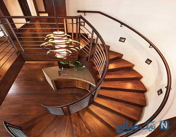 مدل راه پله دوپلکس برای خانه های بزرگ