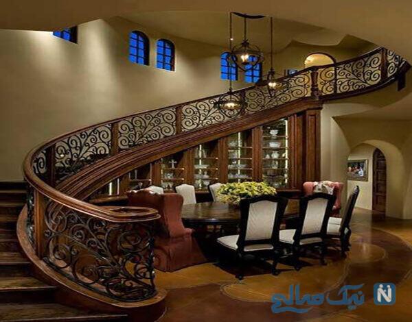 مدل پله چوبی بسیار شیک