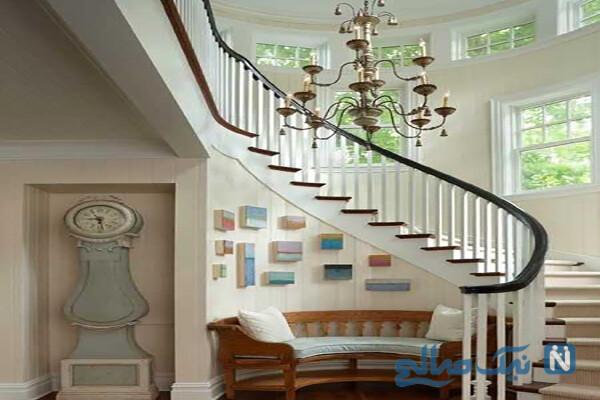 تاثیر راه پله های گرد در زیبایی دکوراسیون خانه