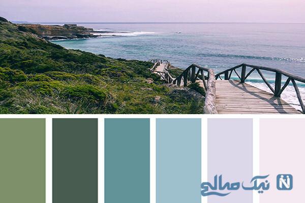ترکیب هایی زیبا از رنگ های طبیعت ، برای استفاده در دکوراسیون خانه